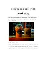 5 bước của quy trình marketing