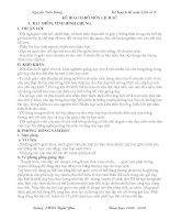 Kế hoạch bộ môn Lịch sử 9