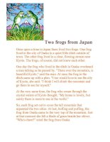 Two frogs from Japan