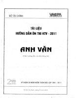 tài liệu hướng dẫn ôn thi kiểm toán viên 2011 môn anh văn