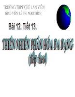 bài 12. thiên nhiên phân hóa đa dạng(t3)
