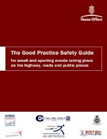 the good practive safety guide for small and sporting events taking place on the highway, roads and public places