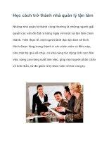 Học cách trở thành nhà quản lý tận tâm pdf