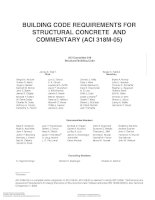 BUILDING CODE REQUIREMENTS FOR STRUCTURAL CONCRETE AND COMMENTARY (ACI 318M-05) docx