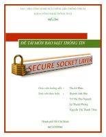 Bảo mật hệ thống thông tin giao thức ssl