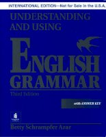 Understanding and using english grammar part 1 pot