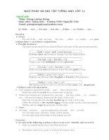 Ngữ Pháp và Bài tập cho lớp 11.doc