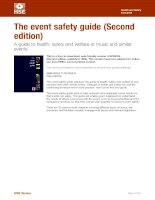 the event safety guide (second  edition) - a guide to health, safety and welfare at music and similar  events