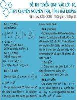 Đề tuyển sinh lớp 10 THPT Nguyễn Trãi-Hải Dương pdf