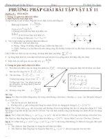 Công thức - PP giải BT và BT vật lý 11
