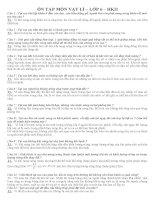 ĐỀ CƯƠNG + ĐÁP ÁN LÍ 6 - HKII