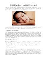 5 lời khuyên để loại bỏ làn da khô ppt