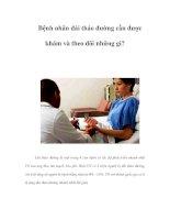 Bệnh nhân đái tháo đường cần được khám và theo dõi những gì? ppsx