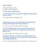 Từ loại trong tiếng Anh - Bài 1 & 2 pot