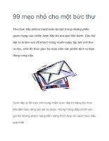 99 mẹo nhỏ cho một bức thư Thư trực tiếp (direct mail) docx