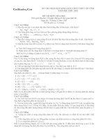 Đề Thi HSG Hoá 12 - THPT Chuyên Nguyễn Huệ [2009 - 2010] pdf