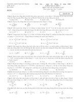 Đề kiểm tra 15 phút Vật lý 12 Nâng cao (lần 3)