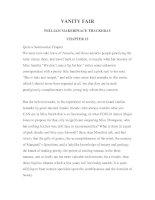 LUYỆN ĐỌC TIẾNG ANH QUA TÁC PHẨM VĂN HỌC-VANITY FAIR -WILLIAM MAKERPEACE THACKERAY -CHAPTER 12 doc