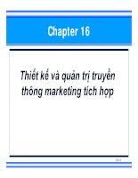 chương 16  thiết kế và quản trị truyền thông marketing tích hợp