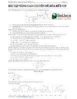 Bài tập nâng cao chuyên đề hóa hữu cơ ppt