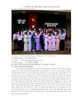 Vài nét về trường THCS Vĩnh Thịnh