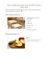 Với vỏ bánh gối mình cũng có thể làm được bánh ngọt ppt