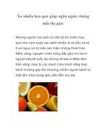 Ăn nhiều hoa quả giúp ngăn ngừa chứng mất thị giác doc