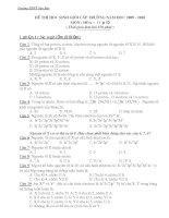 Đề Thi Học Sinh Giỏi HOÁ 10 - THPT Sào Báy [2009 - 2010] pps