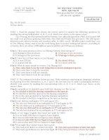 Anh 10 CB Đề thi trắc nghiệm kỳ II