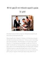 10 bí quyết trở thành người quản lý giỏi potx