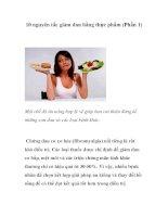 10 nguyên tắc giảm đau bằng thực phẩm (Phần 1) pdf