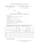 Mẫu báo cáo hoạt động thăm dò (khảo sát) khoáng sản pptx