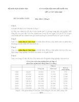 Đề thi chọn học sinh giỏi quốc gia môn Địa lớp 12 Bảng B năm 2006 doc