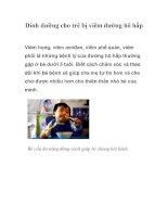 Dinh dưỡng cho trẻ bị viêm đường hô hấp pps