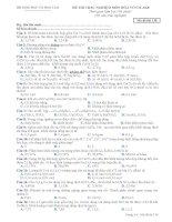 Đề thi trắc nghiệm hoá vô cơ - AK8 (M138) ppt