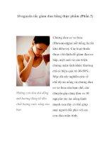 10 nguyên tắc giảm đau bằng thực phẩm (Phần 2) pdf