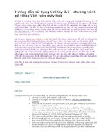 Hướng dẫn sử dụng UniKey 3