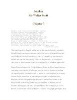 Ivanhoe- Sir Walter Scott -Chapter 7 ppt