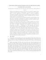 Báo cáo: Ứng dụng công nghệ vi sinh sản xuất chế phẩm vi sinh và phân hữu cơ vi sinh