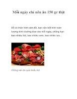 Mỗi ngày chỉ nên ăn 150 gr thịt pptx