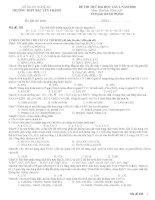 Đề thi thử ĐH lần 1-2010 Hóa A-B182