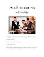 10 chiến lược phát triển nghề nghiệp pdf