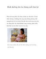 Dinh dưỡng cho ba tháng cuối thai kỳ potx
