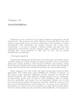 PROJECT MANAGEMENT FOR TELECOMMUNICATIONS MANAGERS CHAPTER 16 pot
