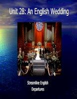 Streamline English - Unit 28: An English Wedding pptx