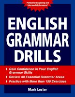 English grammar drills part 1 docx