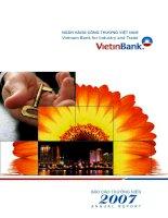 báo cáo thường niên 2007 ngân hàng thương mại cổ phần công thương việt nam vietinbank