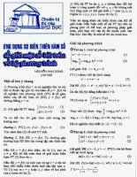 Biến thiên hàm số-giải phương trình pptx