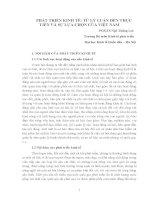 Phát triển kinh tế: từ lý luận đến thực tiễn và sự lựa chọn của việt nam ppt