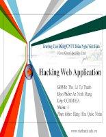 Giáo trình CEH v7 tiếng việt    chương 13 hacking web application